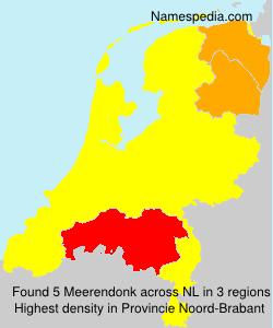 Surname Meerendonk in Netherlands