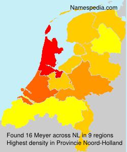 Surname Meyer in Netherlands