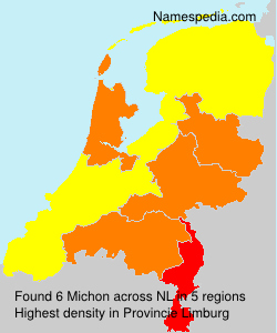 Surname Michon in Netherlands