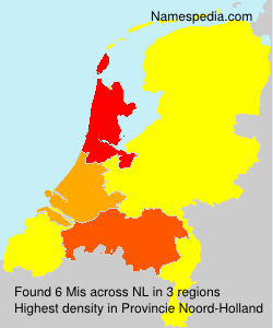 Surname Mis in Netherlands