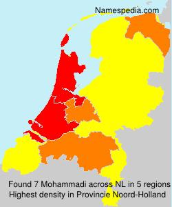 Surname Mohammadi in Netherlands