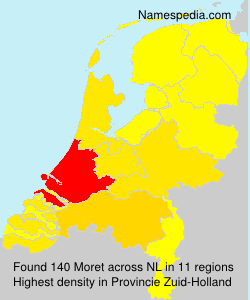 Surname Moret in Netherlands