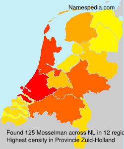 Familiennamen Mosselman - Netherlands