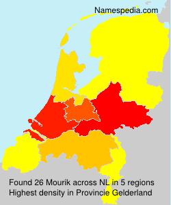 Surname Mourik in Netherlands