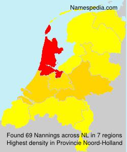 Surname Nannings in Netherlands