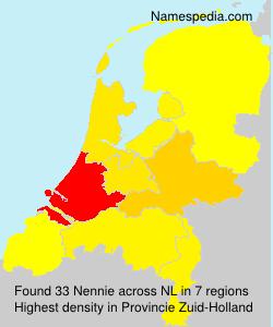 Surname Nennie in Netherlands