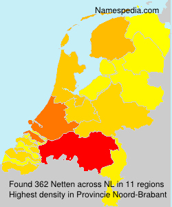 Surname Netten in Netherlands
