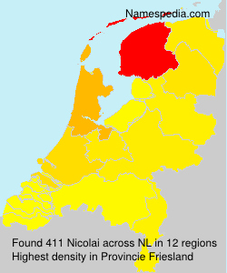 Surname Nicolai in Netherlands