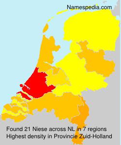 Familiennamen Niese - Netherlands