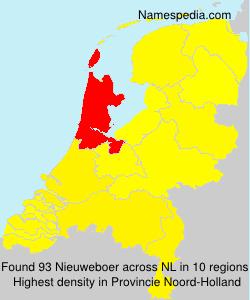 Surname Nieuweboer in Netherlands
