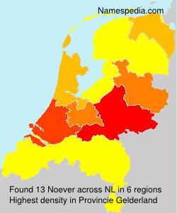 Familiennamen Noever - Netherlands
