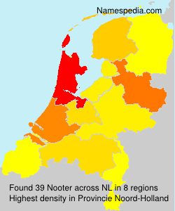 Surname Nooter in Netherlands