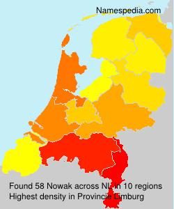 Surname Nowak in Netherlands