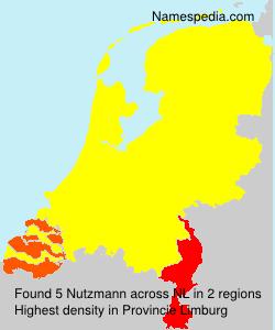Familiennamen Nutzmann - Netherlands