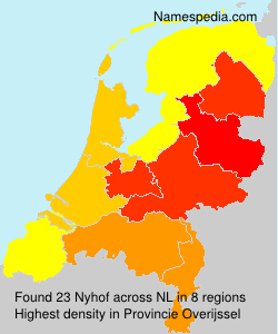 Surname Nyhof in Netherlands