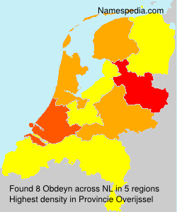 Surname Obdeyn in Netherlands