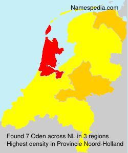 Surname Oden in Netherlands
