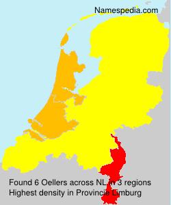 Familiennamen Oellers - Netherlands