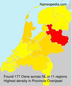 Familiennamen Oene - Netherlands
