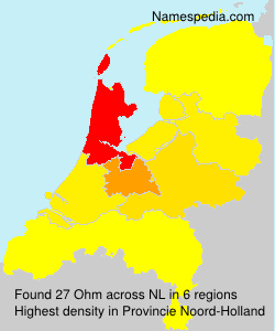 Surname Ohm in Netherlands