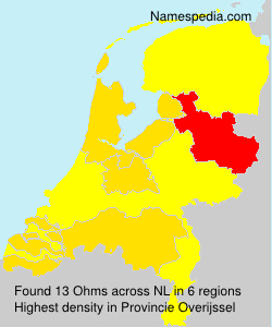Surname Ohms in Netherlands