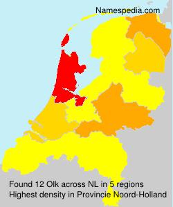 Familiennamen Olk - Netherlands