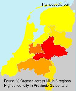 Surname Oteman in Netherlands