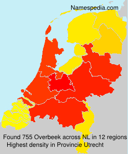 Surname Overbeek in Netherlands