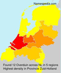 Surname Overduin in Netherlands