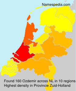 Surname Ozdemir in Netherlands