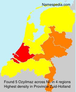 Familiennamen Ozyilmaz - Netherlands