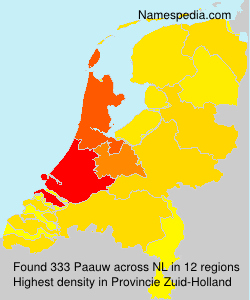 Surname Paauw in Netherlands