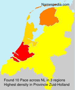 Surname Pace in Netherlands