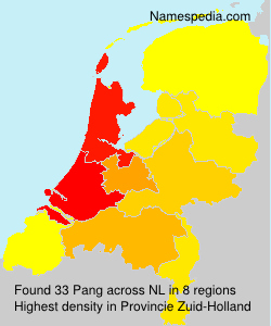 Surname Pang in Netherlands