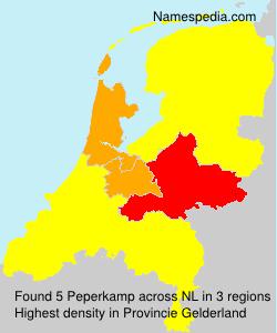 Surname Peperkamp in Netherlands