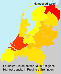 Surname Platen in Netherlands
