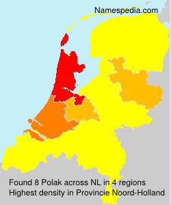 Surname Polak in Netherlands