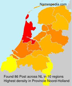 Surname Post in Netherlands