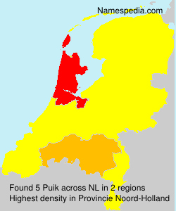 Surname Puik in Netherlands