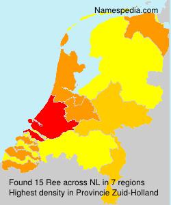 Surname Ree in Netherlands