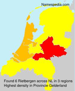 Surname Rietbergen in Netherlands