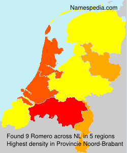 Surname Romero in Netherlands