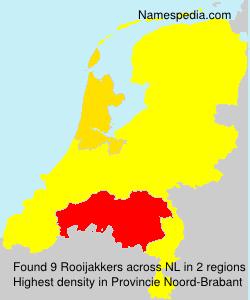 Familiennamen Rooijakkers - Netherlands