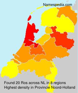 Surname Ros in Netherlands
