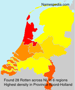 Surname Rotten in Netherlands
