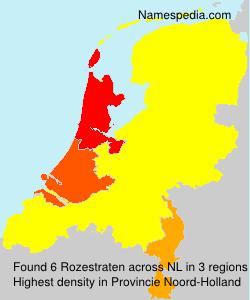Familiennamen Rozestraten - Netherlands
