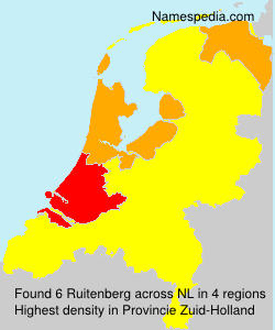 Surname Ruitenberg in Netherlands