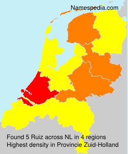 Surname Ruiz in Netherlands
