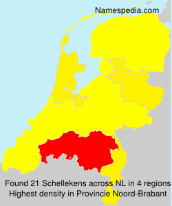 Surname Schellekens in Netherlands