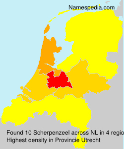 Surname Scherpenzeel in Netherlands